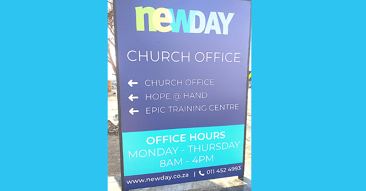 HQ hope at hand at newDAY Church Edenvale